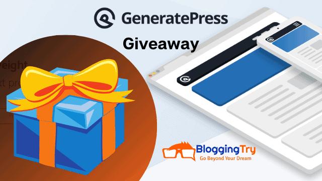 GeneratePress Giveaway