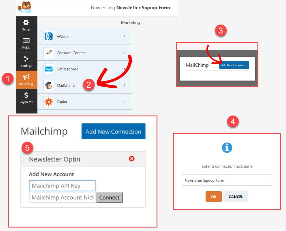 Connect MailChimp to WPForms
