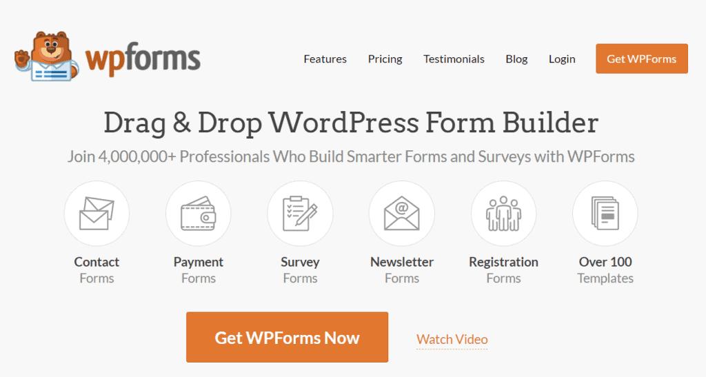 WPForms Contact Form Builder