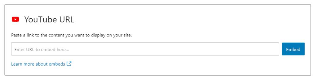 Embed Video URLs
