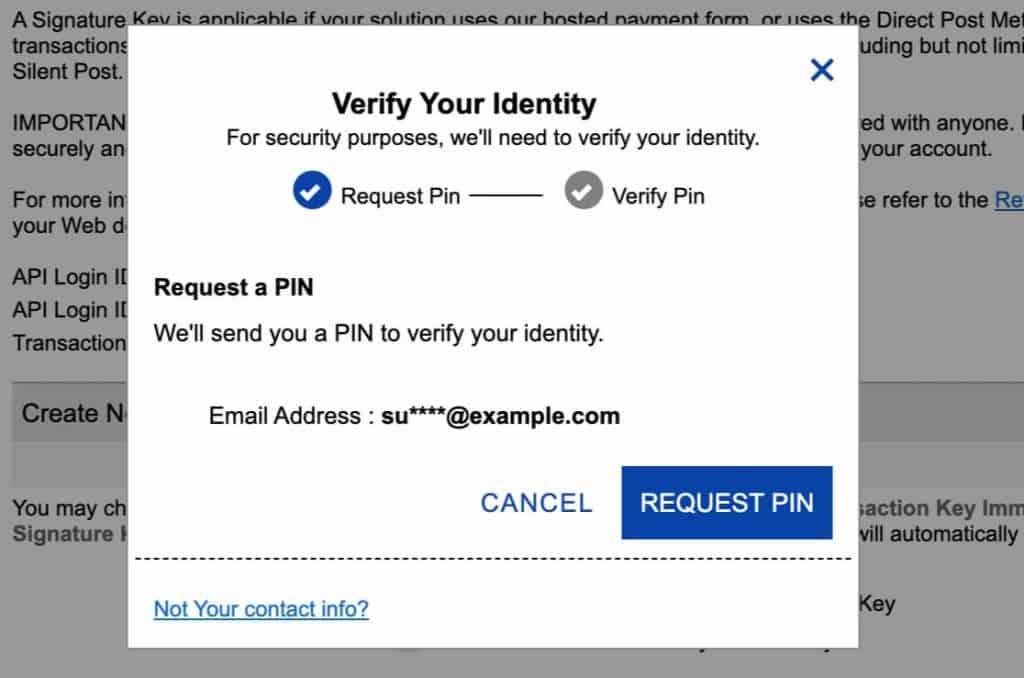 Verify Identify for Authorize.net