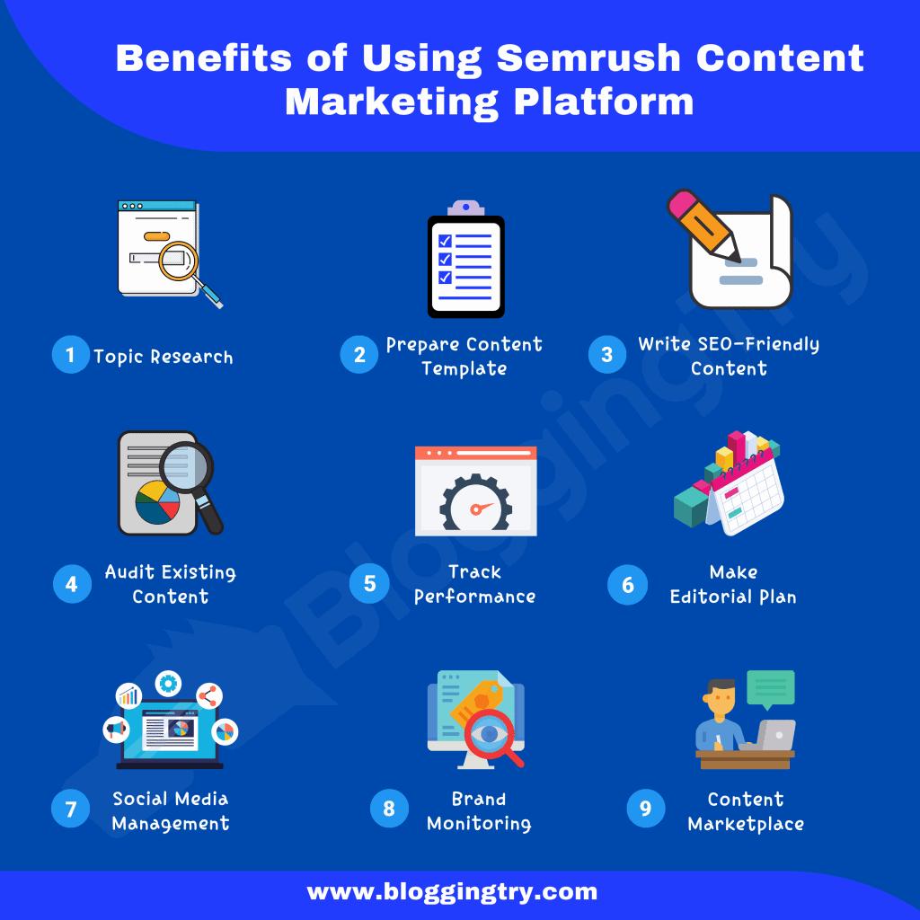Benefits of Semrush Content Marketing Platform