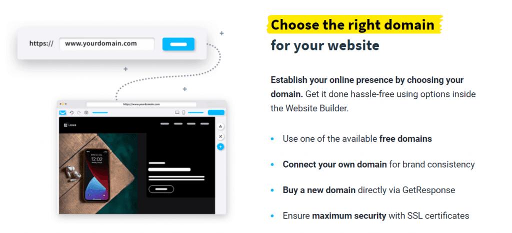 GetResponse Website Builder Custom Domain