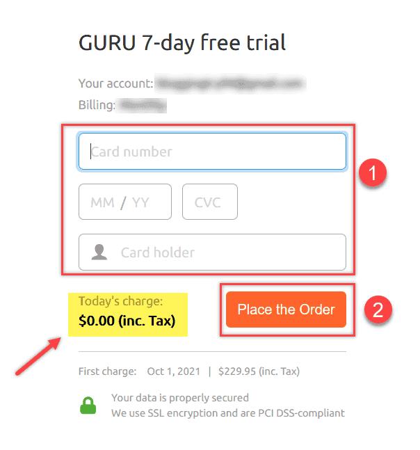 Semrush Payment Information