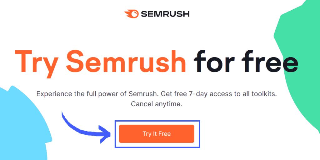 Semrush Trial Page